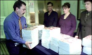 First copies of the US 2003 budget