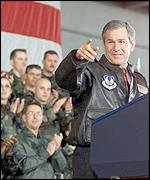 President Bush at Elgin Air Force Base