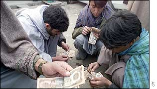 Kabul money exchangers