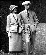 George VI and Queen Elizabeth on honeymoon