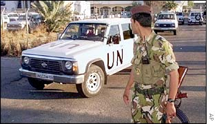 UN arms team leaving Baghdad, November, 1998