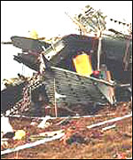 Wreckage of the RAF Chinook