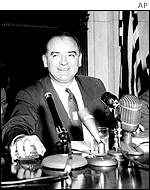 Senator Joe McCarthy in 1954 at Congress