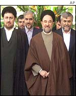 President Khatami and other Iran cabinet members