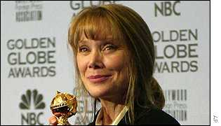 Sissy Spacek at the Golden Globes 2002