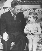 King George VI and a young Prince Charles
