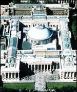 Aerial photograph of the British Museum