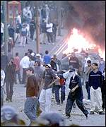 Around 260 police officers were injured in the Bradford riots