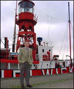 Mike Lewis and the Helwick lightship