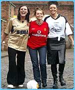 The Coronation Street girls in football strips