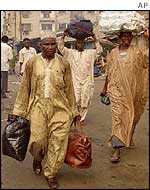 Residents fleeing Lagos