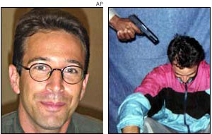Daniel Pearl, before and after his kidnapping