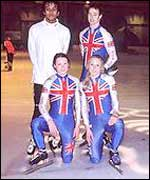 Team GB speed skaters