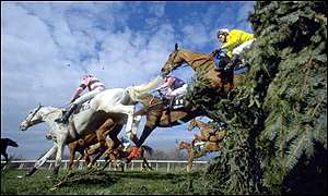 The field clears one of the 30 National fences