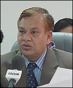 Junior Civil Aviation Minister Mir Nasiruddin