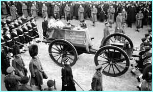 The state funeral was televised to the nation by the BBC - the first time any national event was shown on TV