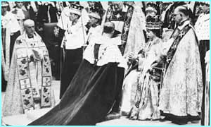 The coronation was also televised showing the full splendour and tradition of the event