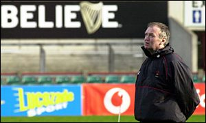 Graham Henry in pensive mood at Lansdowne Road on Saturday