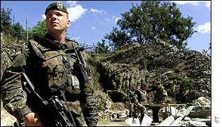 Nato troops in Macedonia
