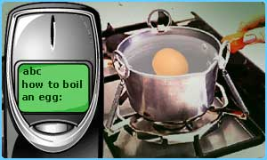 Boiling an egg and texting