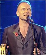 Sting will sing a montage of his hits