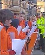 Protesters outside Bute House
