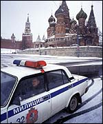 Police car in Moscow