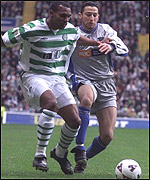 Didier Agathe holds off Youssef Rossi