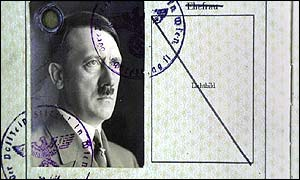 Fake Hitler passport