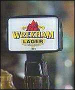 Wrexham Lager sign