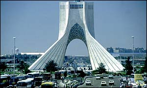Tehran skyline,showing  Azadi Tower