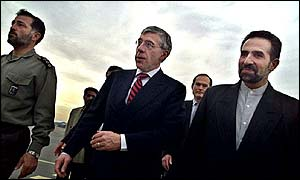 UK Foreign Secretary Jack Straw visiting Tehran