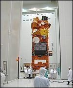 Moving the spacecraft (Photo: Astrium)