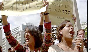 Anti-Chavez demonstrators
