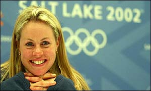 Chemmy Alcott poses for the cameras