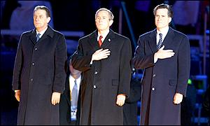George Bush was the star attraction at the opening ceremony