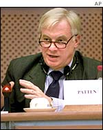 EU external affairs commissioner Chris Patten
