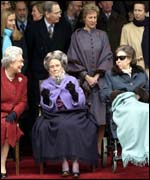 The Queen, Princess Alice (their aunt) and Princess Margaret, December 2001