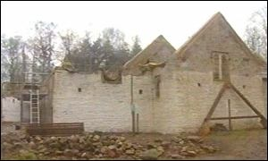 St Teilo's Church being rebuilt at St Fagan's