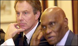 Tony Blair and Senegal's President Wade