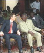 Tony Blair and President Kufuor