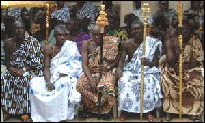 Village chiefs in Ghana