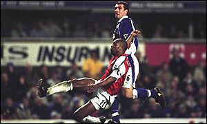 Sylvain Wiltord hits Arsenal's winner