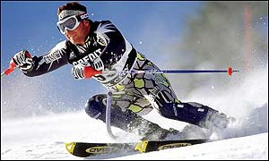 British skier Alain Baxter has been struggling with a back injury