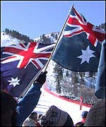 Australian supporters were also present