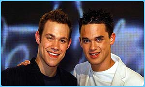 Pop Idol hopefuls Will and Gareth