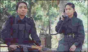 Two Tripura women guerrillas