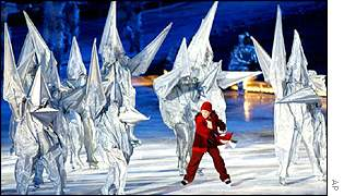Opening ceremony at the Winter Olympics