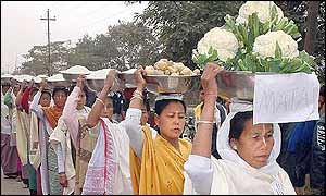 Women in election procession