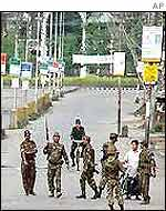 Troops on Imphal street